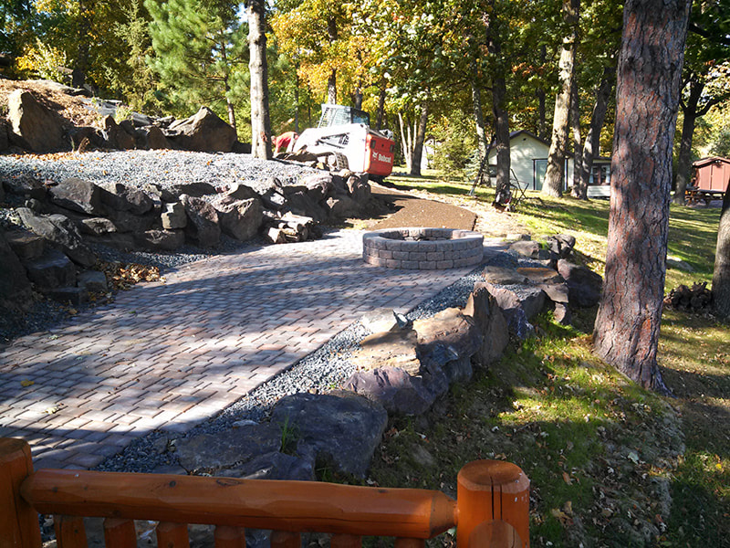 T&K Outdoors landscaping and paver project